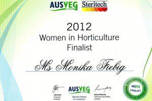 AUSVEG 2012 - Women in Horticulture Finalist