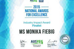 AUSVEG 2015 - Industry Impact Award Finalist