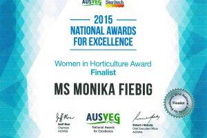 AUSVEG 2015 - Women in Horticulture Finalist
