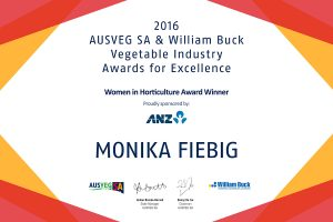 AUSVEG 2016 - Women in Horticulture Winner