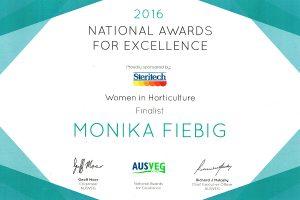 AUSVEG 2016 - Women in Horticulture Finalist